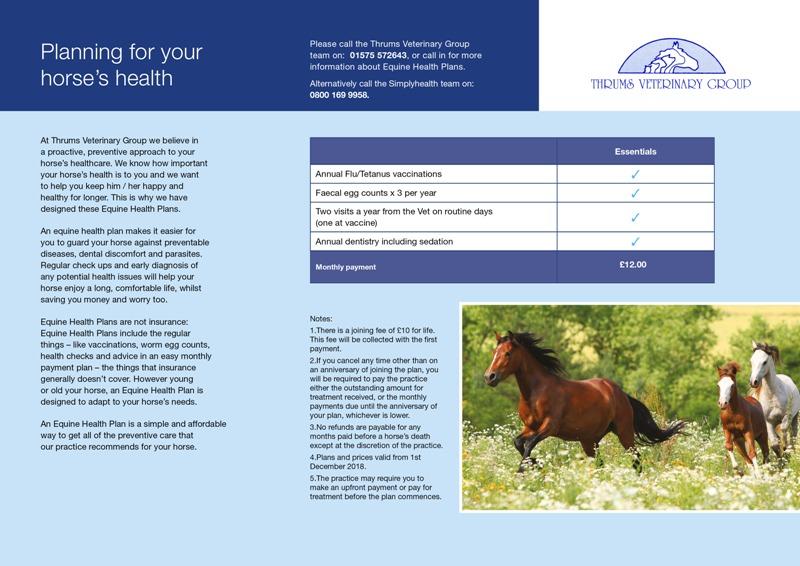 Equine Health Plan